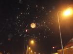 Kembang api di luar Stadion