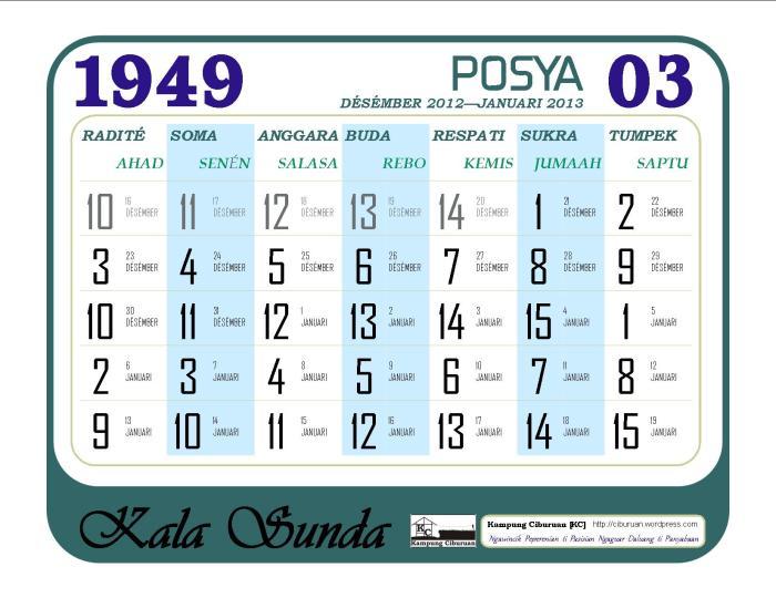 Posya 1949 Candra Kala Sunda