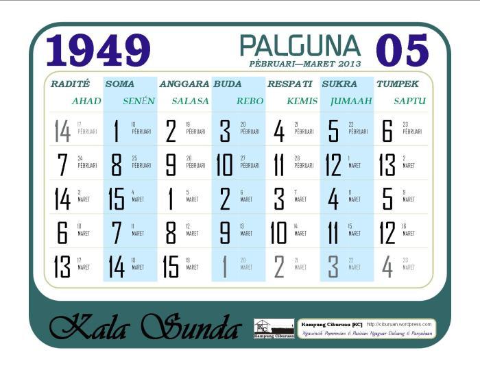 Palguna 1949 Candra Kala Sunda