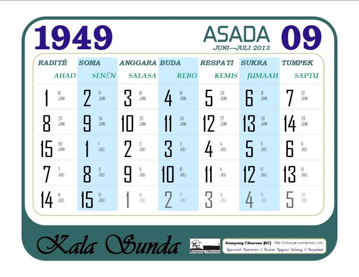 Ping 1 Suklapaksa Asada 1949 Candra Kala Sunda
