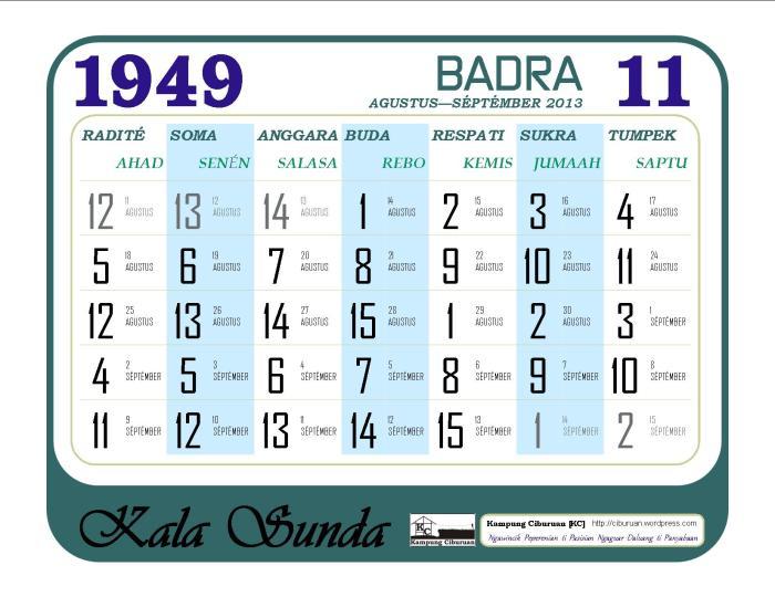 Ping 1 Suklapaksa Badra 1949 Candra Kala Sunda