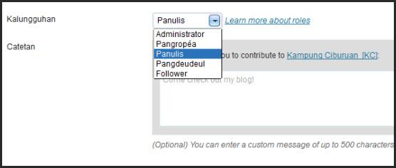 Rupa-rupa kalungguhan panulis dina blog di WordPress