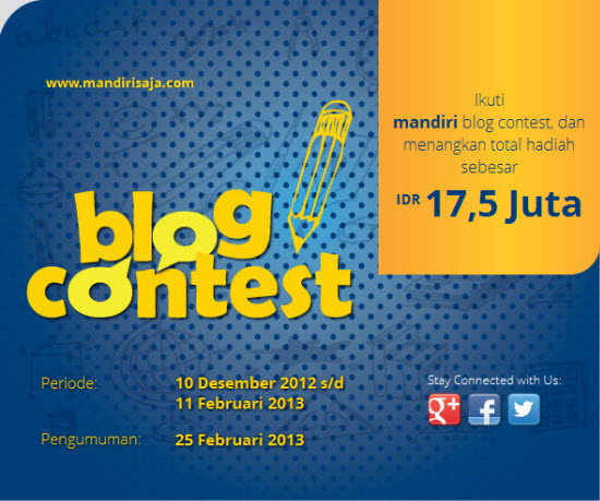 Blog Contest Mandiri