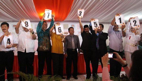 Runtuyan nomer unggal pasang calon Bupati/Wakil Bupati Sumedang