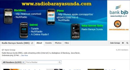 Radio Baraya Sunda (RBS) di pesbuk