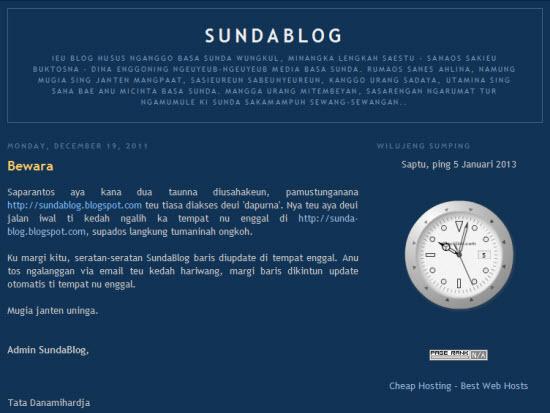SundaBlog anu heubeul