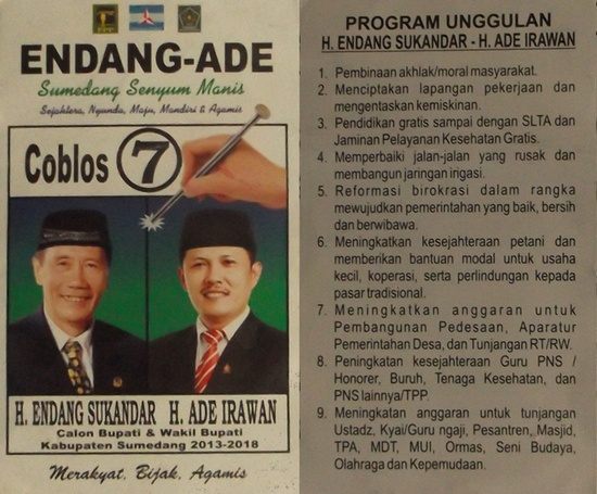 Program Andelan Pasangan Calon Nomer 7