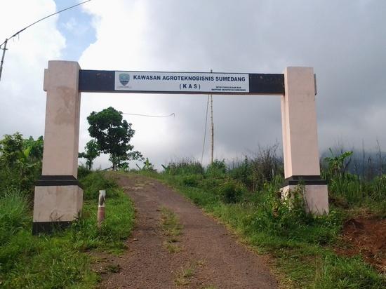 Gapura wewengkon Agroteknobisnis Sumedang di Nangorak