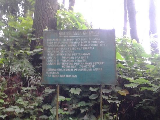 Plang inpo ngeunaan benteng Walanda di Gunung Kunci