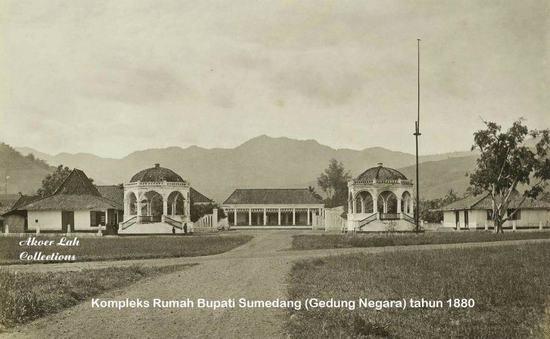 Kaayaan kantor Bupati dina taun 1880