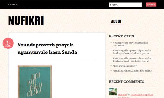 Poroyek Ngamumule Basa Sunda di blog NUFIKRI