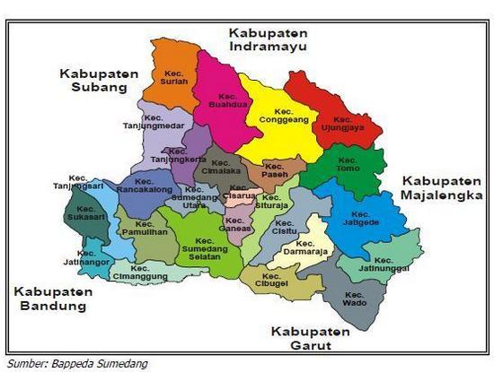 Kacamatan anu aya di Kabupaten Sumedang