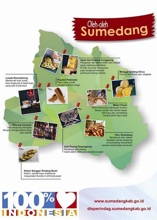 Sababaraha jinis produk/barang andelan Sumedang