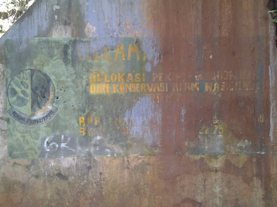 Katerangan Selamat Datang dina tembok wangunan Wangunan Cagar Budaya 1