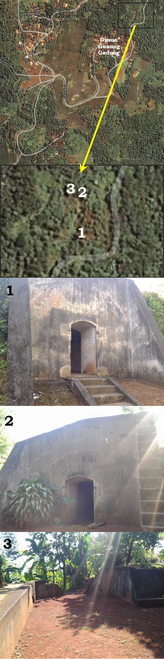 Wangunan benteng titinggal Wala nda di Pasirlaja Sumedang