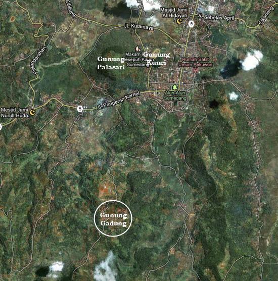 Perenahna wewengkon Gunung Gadung di Sumedang