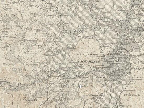 Peta sabudeureun dayeuh Sumedang jieunan taun 1908