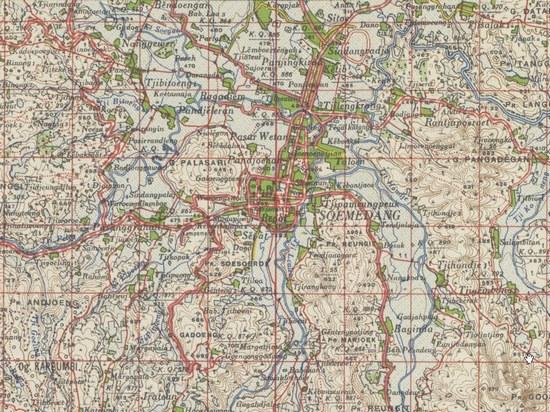Peta sabudeureun dayeuh Sumedang jieunan taun 1920