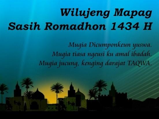 Wilujeng Mapag Sasih Romadhon 1434 H