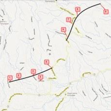 Peta palelebah anu kaliwatan jalan tol pikeun sawatara waktu ayeun