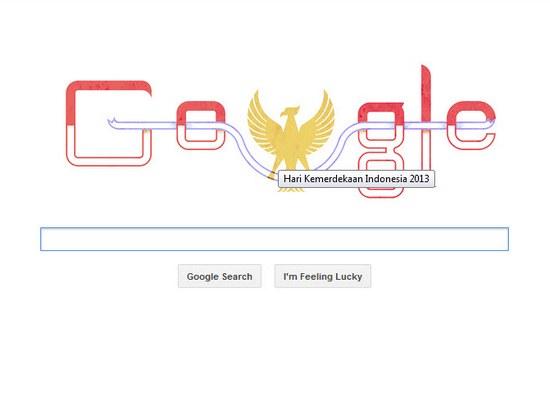 'Hari Kemerdekaan Indonesia 2013' ti Google