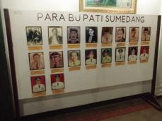 Daptar potret Bupati Sumedang