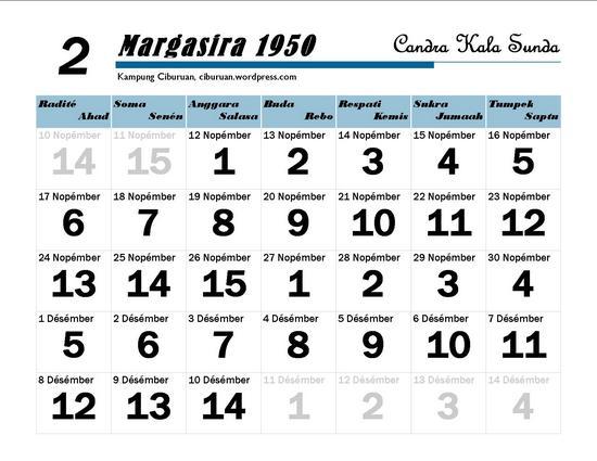 Ping 1 Suklapaksa Margasira 1950 Candra Kala Sunda