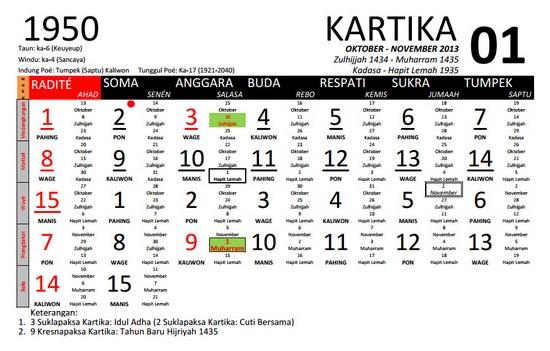 Kalénder Sunda (Candra Kala Sunda) anu Leuwih Lengkep yasana Kang Andi Pangerang