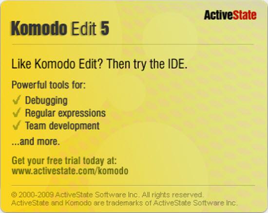 Aplikasi Komodo Edit 5