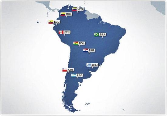 Nagara anu aya di padaratan Amerika Kidul