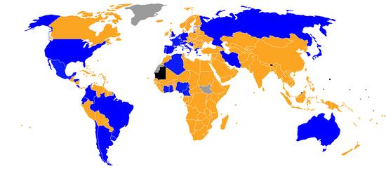 Daptar nagara anu asup babak puncer Piala Dunia 014 (ditandaan ku warna bulao)