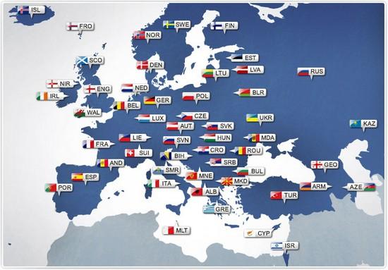 Nagara anu aya di wewengkon padaratan Eropah