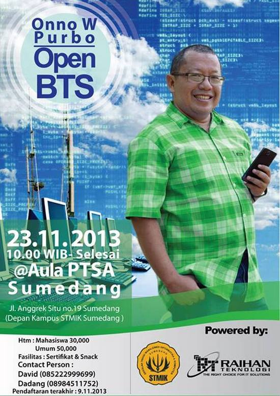 Seminar Open BTS Bareng Pa Onno W. Purbo di STMIK Sumedang