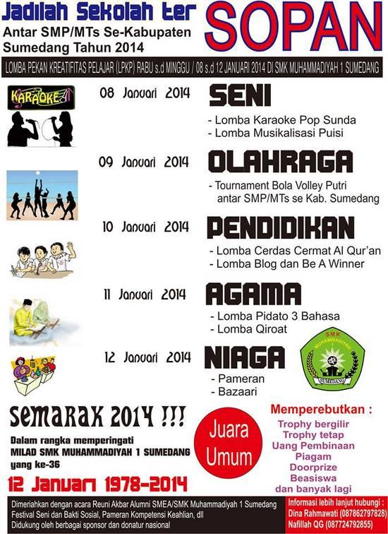 Lomba Pekan Kreativitas Pelajar Dina Raraga Milangkala SMK Muhammadiyah 1 Sumedang