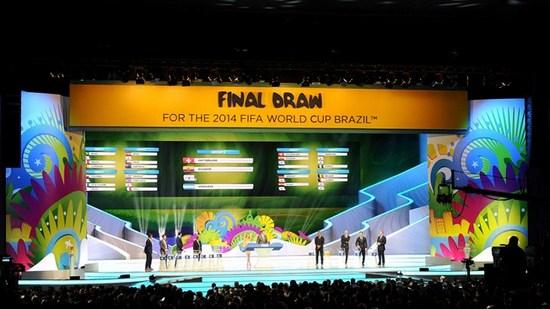 Undian tatandang undakan kahiji Piala Dunia 2014