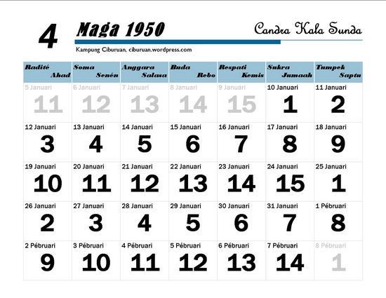 Ping 1 Suklapaksa Maga 1950 Candra Kala Sunda