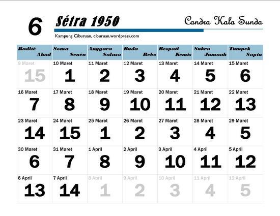 Ping 1 Suklapaksa Sétra 1950 Candra Kala Sunda