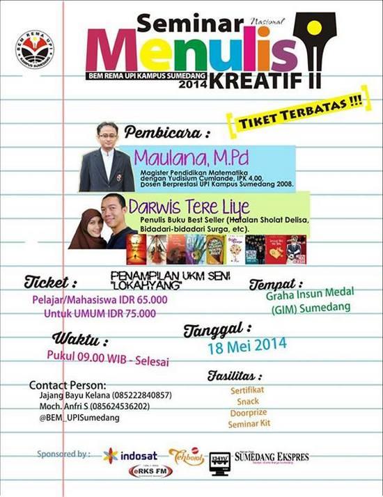 Seminar Nasional Menulis Kreatif 2014