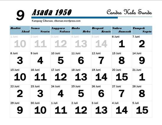 Ping 1 Suklapaksa Asada 1950 Candra Kala Sunda
