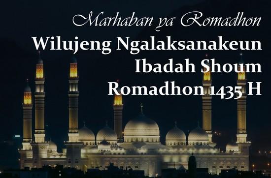 Wilujeng ngalaksanakeun ibadah puasa Romadhon 1435 H