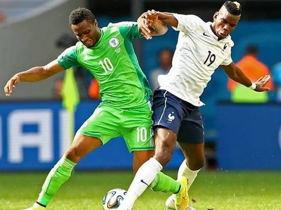 Tatandang tim Perancis ngalawan tim Nigeria