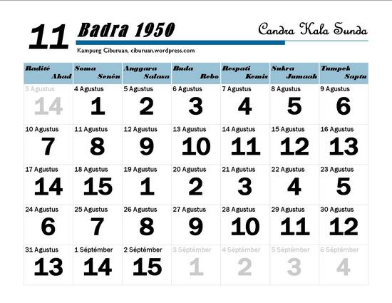 Ping 1 Suklapaksa Badra 1950 Candra Kala Sunda