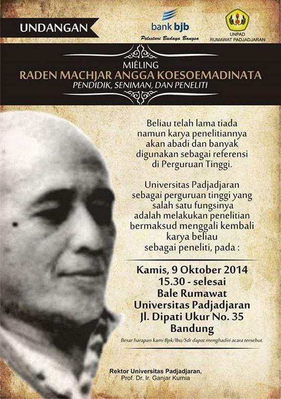 Rumawat Padjadjaran Miéling Radén Machjar Angga Koesoemadinata