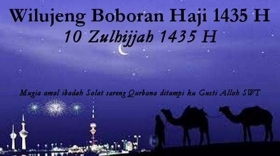 Wilujeng Boboran Haji 1435 H