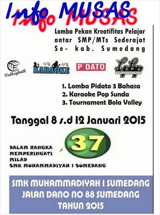 Lomba Pekan Kreativitas Pelajar Se-Kabupaten Sumedang di SMK Muhammadiyah