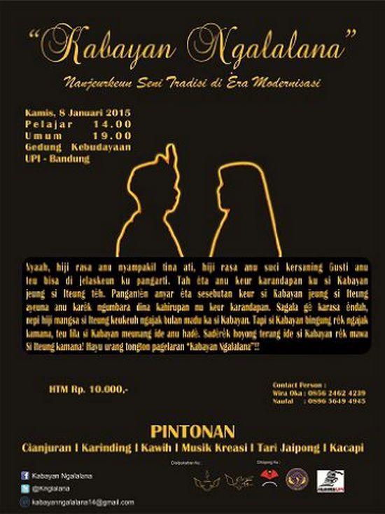 Pagelaran Kabayan Ngalalana ti Lisénda JPBD UPI