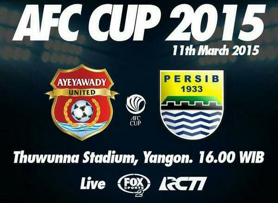 Persib Bandung ngalawan Ayeyawady United di Piala AFC bakal dirojong ku bobotoh sacara langsung