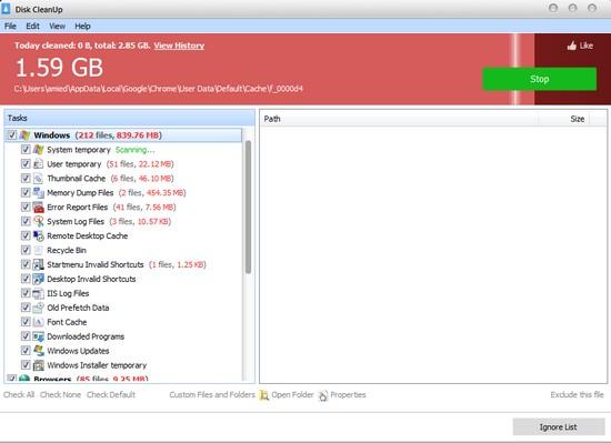 Glary Disk Cleaner, Pakakas Paranti Meresihan Hardisk Komputer