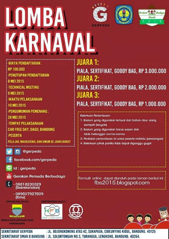 Lomba Karnaval dina Féstival Budaya Sunda 2015
