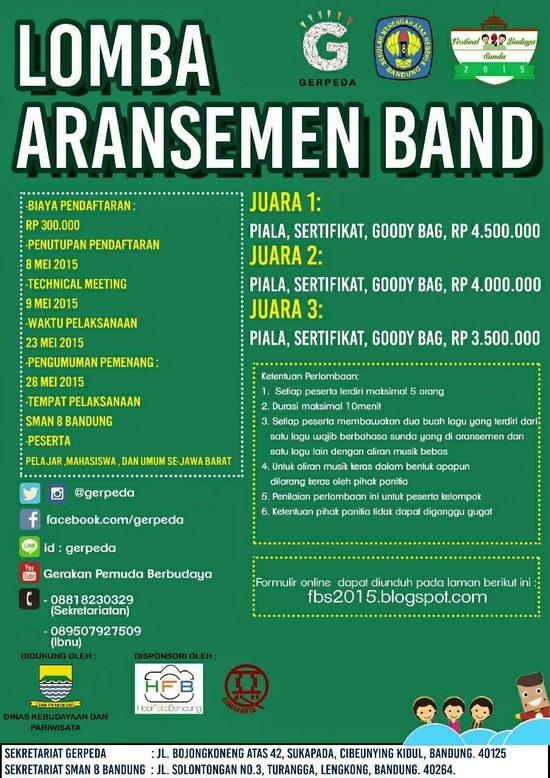 Lomba Aransemen Band dina Féstival Budaya Sunda 2015